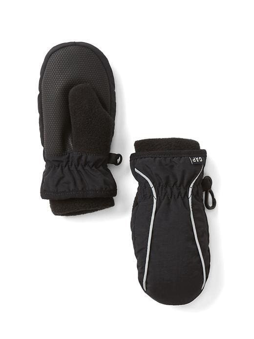 Gap Reflective Mittens - True black