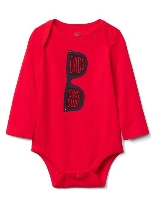 Gap Family Graphic Long Sleeve Bodysuit - Dad