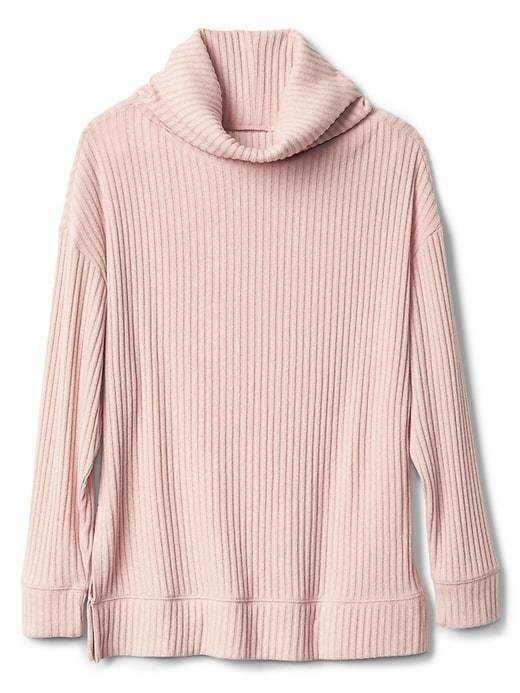 Gap Softspun Funnel Neck Pullover - Chalk pink 440