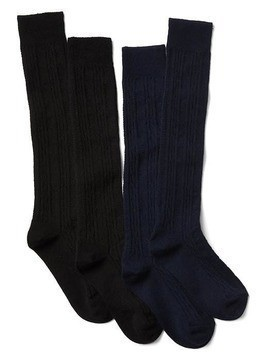 Gap Cable Knit Knee High Socks (2 Pack) - Blue galaxy