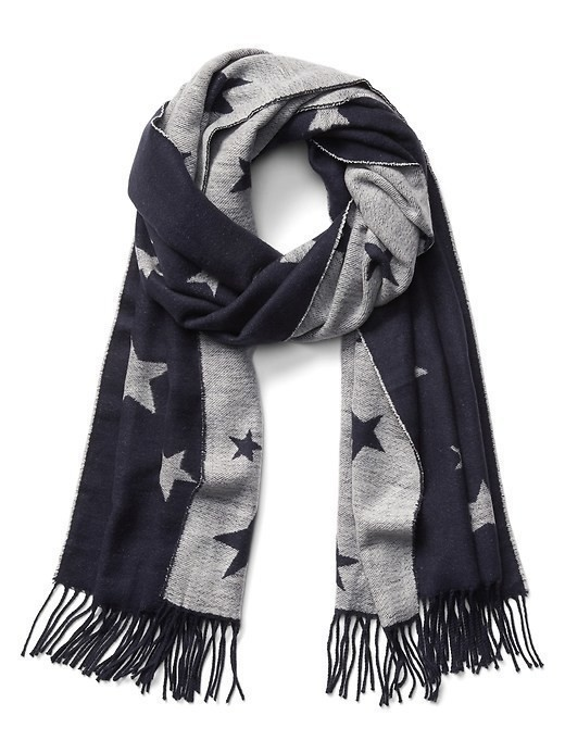 Gap Cozy Star Scarf - Blue uniform