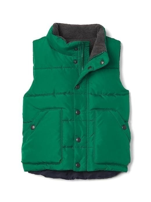 Gap Quilted Fleece Lined Vest - Palisade green