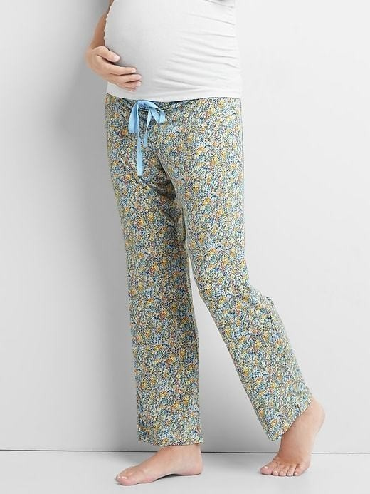 Gap Print Modal Sleep Pants - Blue floral