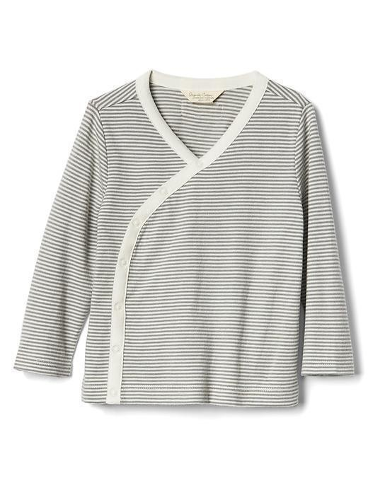 Gap Organic Striped Kimono Top - Grey stripe