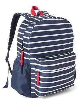 Gap Stripe Senior Backpack - Breton stripe blue
