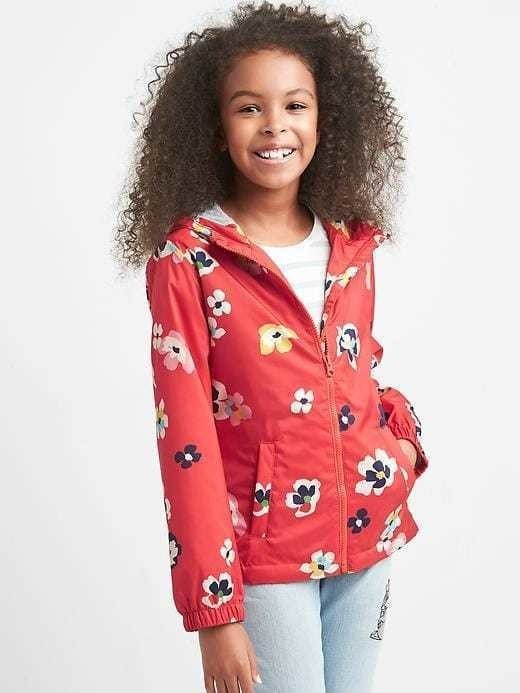 Gap Print Jersey Lined Windbuster - Hula red