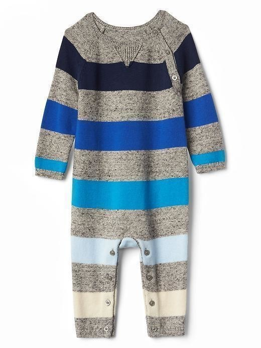 Gap Rugby Stripe Sweater One Piece - Light grey marle