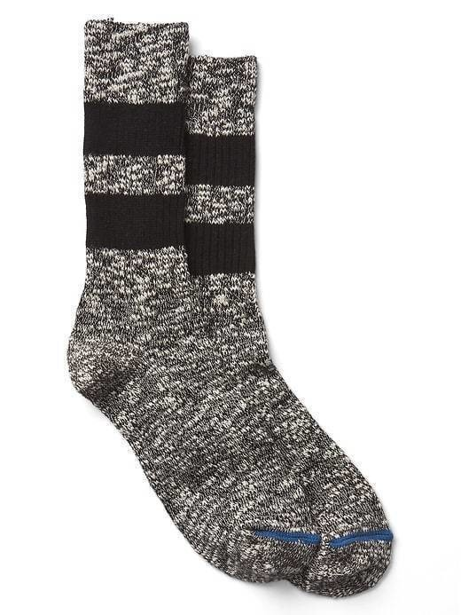 Gap Rugby Stripe Boot Socks - True black