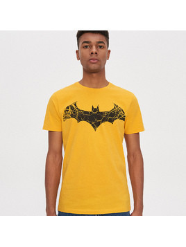 House - T-shirt Batman - Żółty