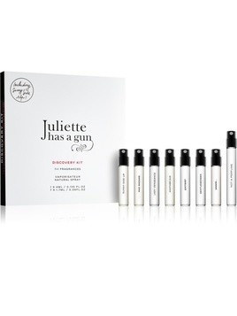 Juliette has a gun Discovery zestaw upominkowy Not a Perfume, Mmmm..., Anyway, Sunny Side Up, Gentlewoman, Mad Madame, Lady Vengeance, Another Oud woda perfumowana 4 ml + woda perfumowana 7 x 1,7 ml