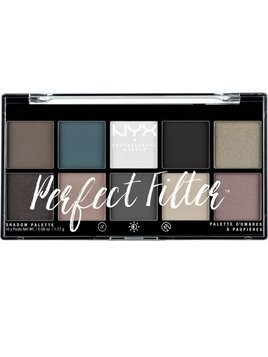 NYX Professional Makeup Perfect Filter Shadow Palette paleta cieni do powiek Gloomy Days 10 x 1,77 g
