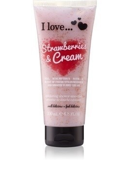 I love... Strawberries & Cream peeling pod prysznic 200 ml