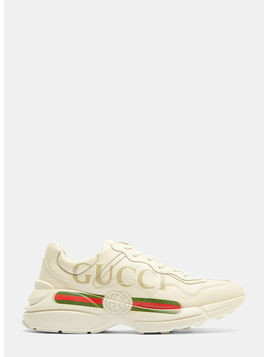 Rhyton Gucci Logo Leather Sneakers