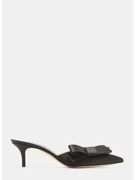 Kyoto Mule Satin Bow Pumps
