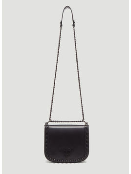 Logo Plaque Stud Cross Body Bag