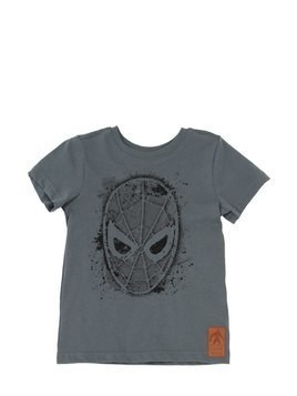 SPIDER FACE PRINT COTTON JERSEY T-SHIRT