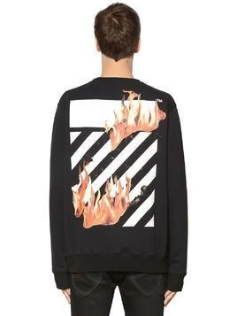 DIAG FIRE HANDS COTTON SWEATSHIRT