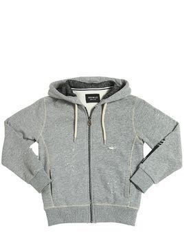 DESTROYED HOODED COTTON SWEATSHIRT