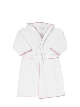BALLOONS EMBROIDERED TERRYCLOTH BATHROBE