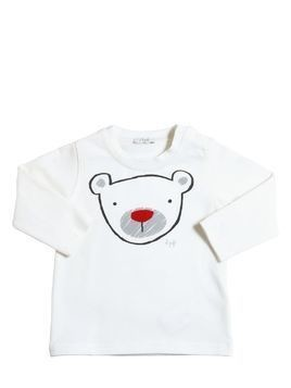 BEAR PRINTED COTTON JERSEY T-SHIRT