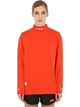 LOGO EMBROIDERED TURTLENECK T-SHIRT