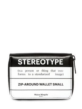 STEREOTYPE LEATHER ZIP AROUND WALLET