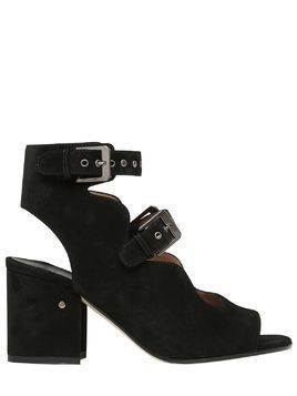 70MM NOE SUEDE DOUBLE BUCKLE SANDALS