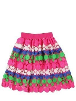 COLOR BAND LACE SKIRT