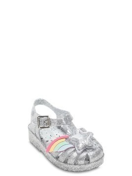 GLITTERED RUBBER SANDALS