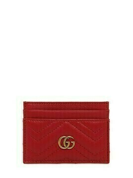 Gg Marmont Quilted Leather Card Holder