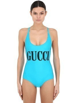 LOGO PRINT LYCRA ONE PIECE SWIMSUIT