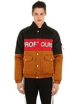 THREE TONE NYLON PUFFER JACKET