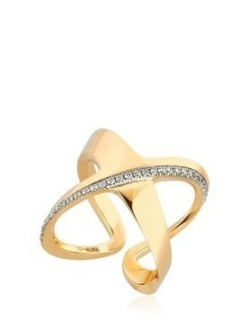 SIRACUSA CRISSCROSS DIAMOND RING