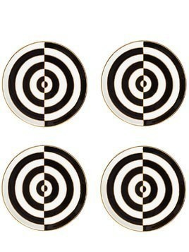 OP ART SET OF 4 PORCELAIN COASTERS