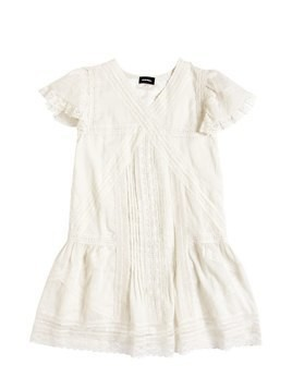 COTTON MUSLIN&LACE DRESS