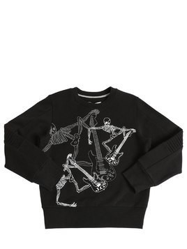 SKELETON PRINTED COTTON SWEATSHIRT