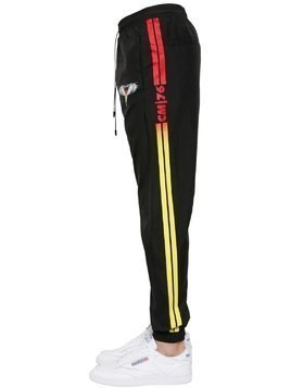 BARCODE WINGS LIGHT NYLON TRACK PANTS
