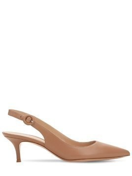 55MM LEATHER SLING BACK PUMPS