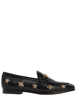 10MM JORDAN EMBROIDERED LEATHER LOAFERS