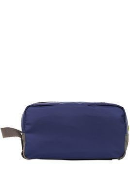 NYLON&DAUPHINE LEATHER TOILETRY BAG