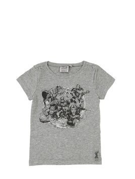 MARVEL PRINT COTTON JERSEY T-SHIRT