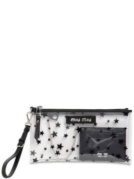 MINI STAR PRINTED PLEXI CLUTCH