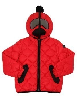QUILTED RIPSTOP NYLON PUFFER JACKET