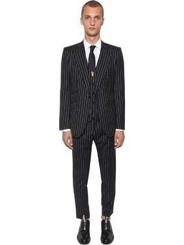 SICILY PINSTRIPED WOOL SUIT