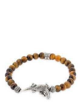 CROCO TIGER EYE BEADED BRACELET