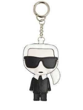 LEATHER KARL KEY CHAIN