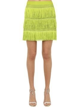 FRINGED CREPE DE CHINE SKIRT