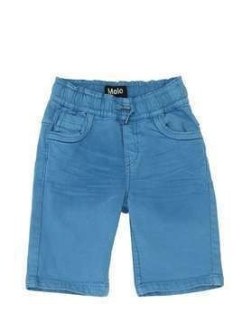 STRETCH COTTON DENIM SHORTS