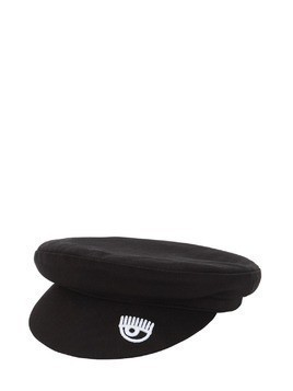 EMBROIDERED COTTON BERET