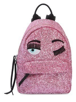 EYE EMBROIDERY GLITTER MINI BACKPACK